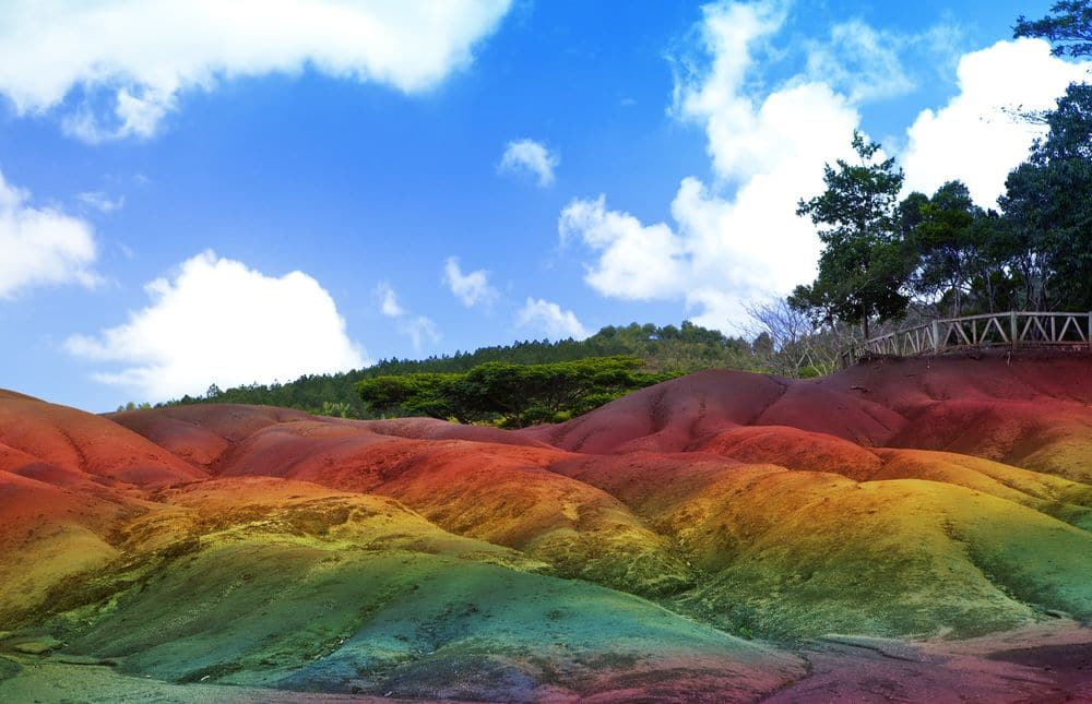 Main sight of Mauritius- Chamarel- seven color lands