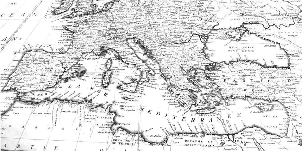 old-map-of-europe-picture-id1027005290