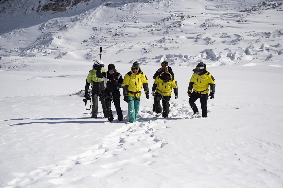 Groupe de guide de haute montagne