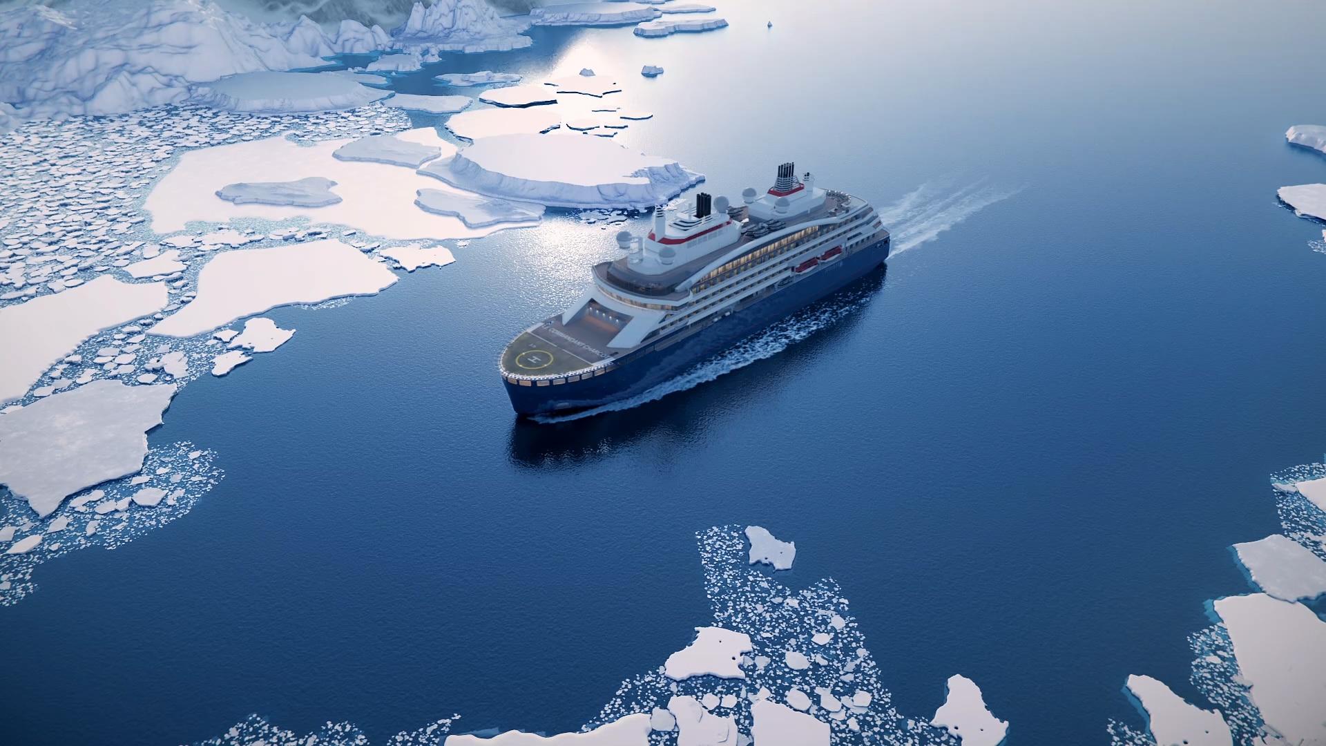 Le Commandant Charcot, a cruise ship designed for polar exploration