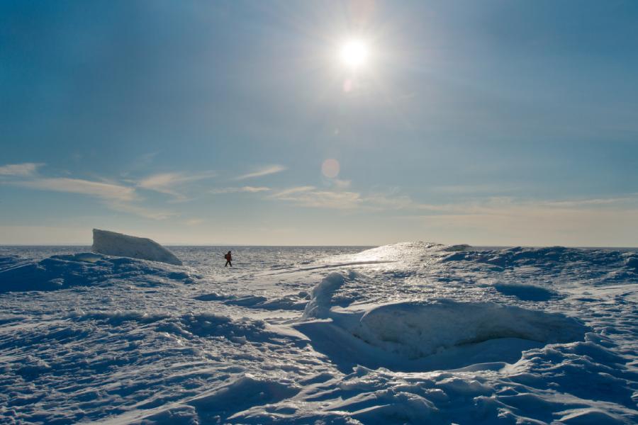 Découverte du pôle nord géographique