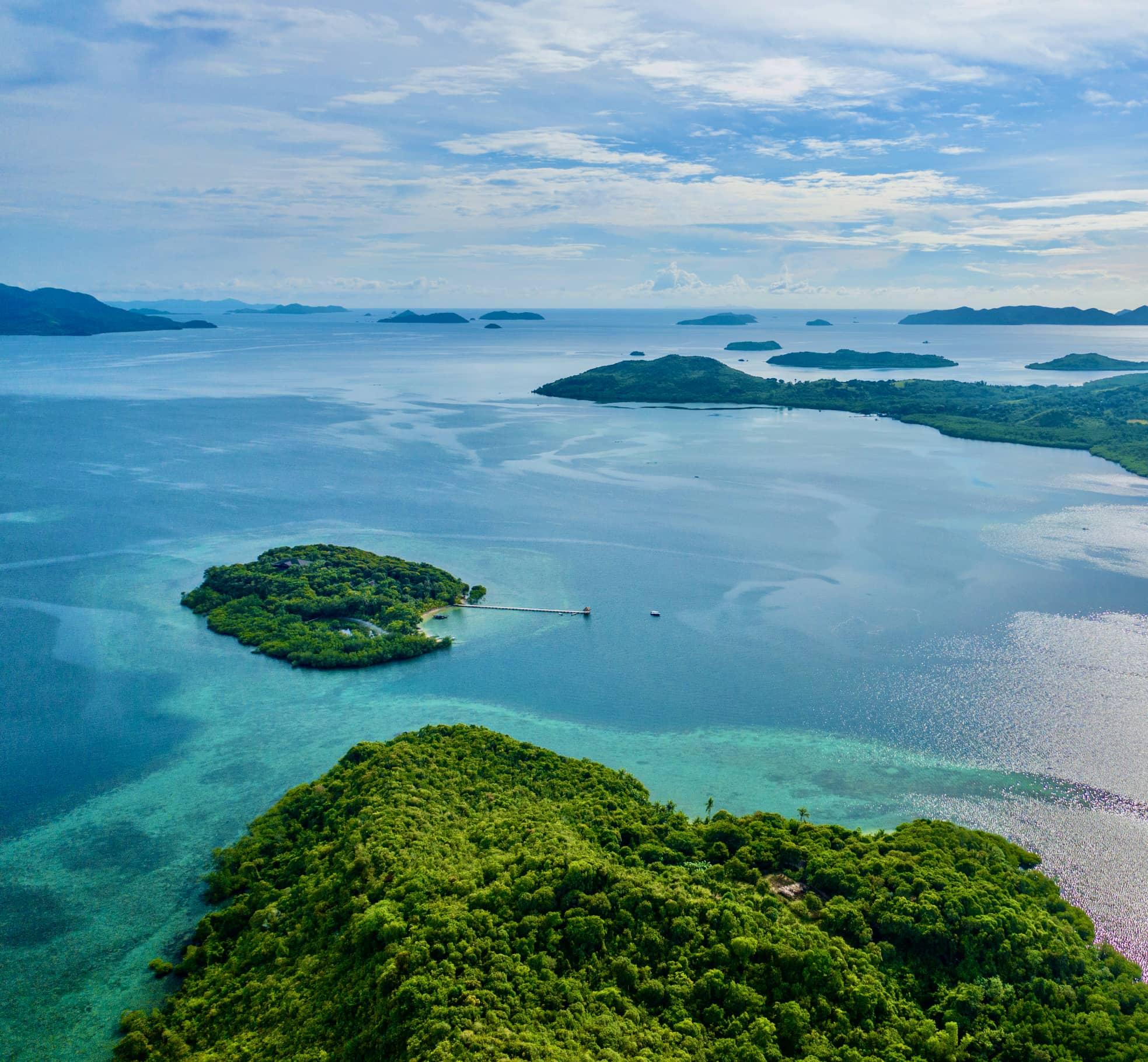 Îlot tropical aux Philippines