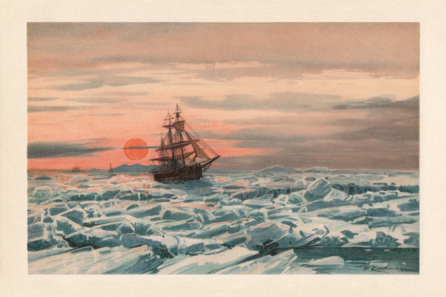 Sélection d'ouvrages et récits de voyage sur les Pôles Nord et Sud